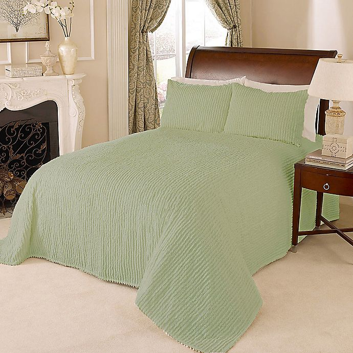 Alternate image 1 for Channel Chenille King Bedspread in Green