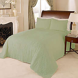 Channel Chenille King Bedspread in Green