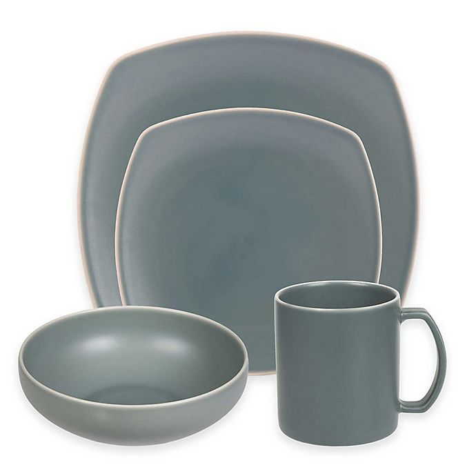 Alternate image 1 for Artisanal Kitchen Supply® Edge Square Dinnerware Collection in Celadon