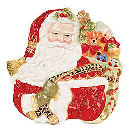 Fitz and Floyd® Damask Holiday Canapé Plate