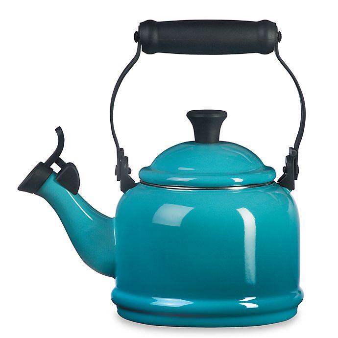 Alternate image 1 for Le Creuset® Demi 1.25 qt. Whistling Tea Kettle in Caribbean