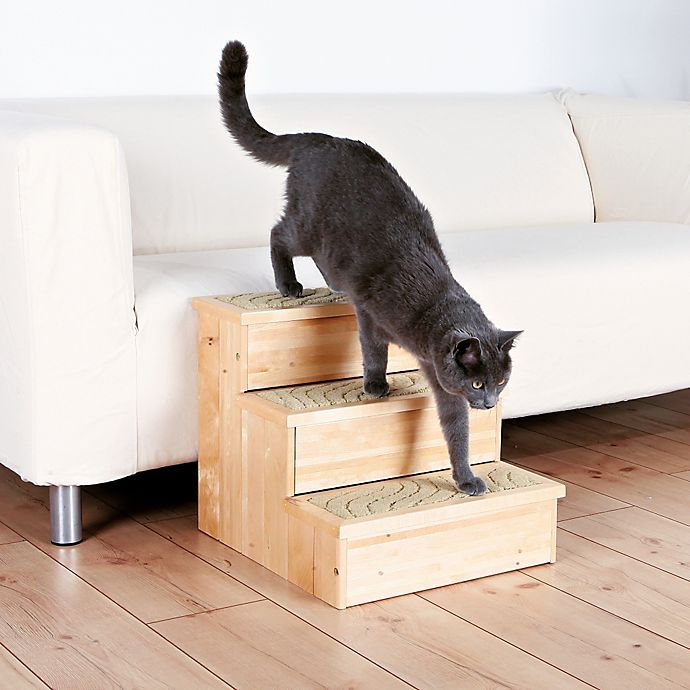 Alternate image 1 for Trixie Wooden Pet Stairs in Natural