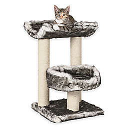 Isaba Cat Tree With 2 Perches in Black and White Fur