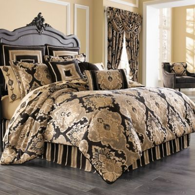 black comforter set king J. Queen New York™ Bradshaw Black Comforter Set in Black   Bed  black comforter set king