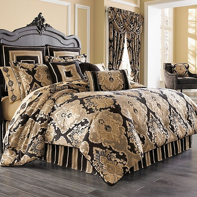 Alternate image 1 for J. Queen New York™ Bradshaw Black Comforter Set in Black