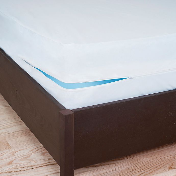 Alternate image 1 for Remedy® Bed Bug Dust Mite Box Spring Protector in White