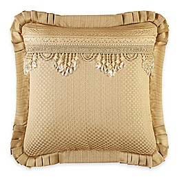 J. Queen New York™ Napoleon Beaded Tassel Square Throw Pillow in Gold