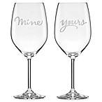 kate spade new york Two of a Kind™  Mine  &  Yours  Wine Glasses (Set of 2)
