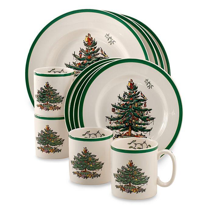 Alternate image 1 for Spode® Christmas Tree 12-Piece Dinnerware Set