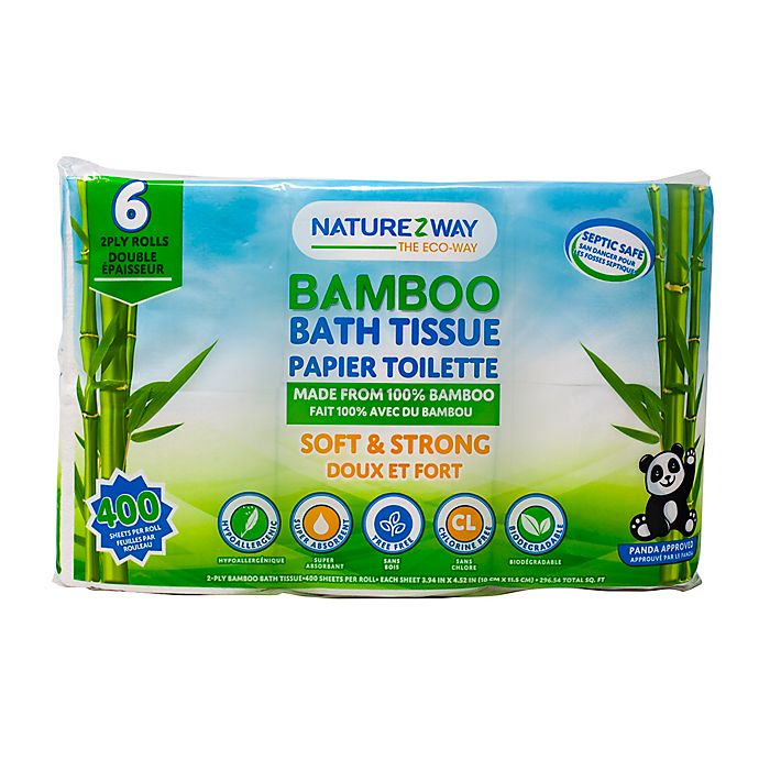 Alternate image 1 for Naturezway® 6-count Bamboo Bath Tissue