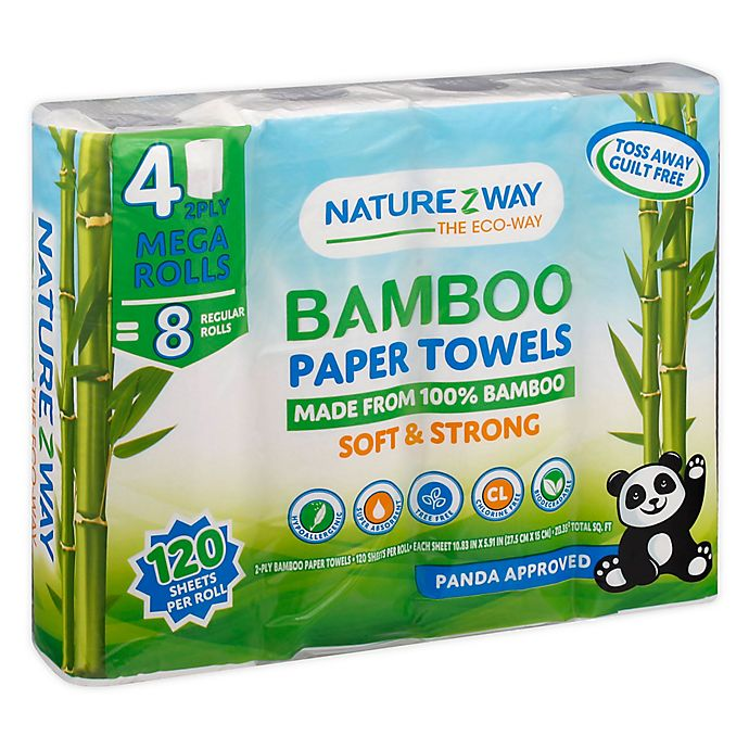 Alternate image 1 for NatureZway™ 4-Count Bamboo Paper Towel