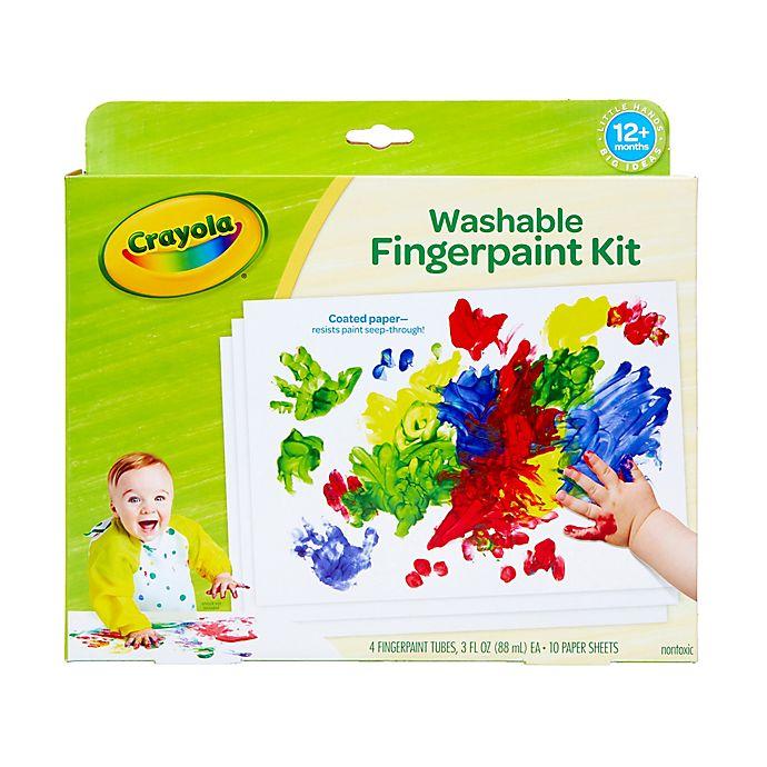 Alternate image 1 for Crayola® My First Crayola Washable Fingerpaint Set