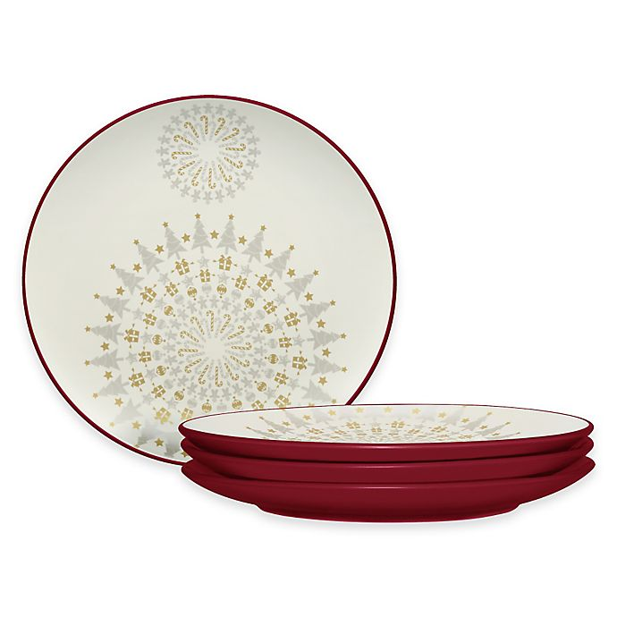 Alternate image 1 for Noritake® Colorwave Holiday Accent Plates in Raspberry (Set of 4)