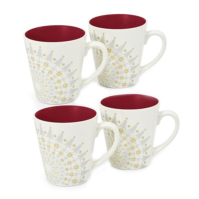 Alternate image 1 for Noritake® Colorwave Holiday Mug in Raspberry (Set of 4)