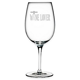 "Susquehanna Glass Etched ""Wine Lover"" Wine Glass"