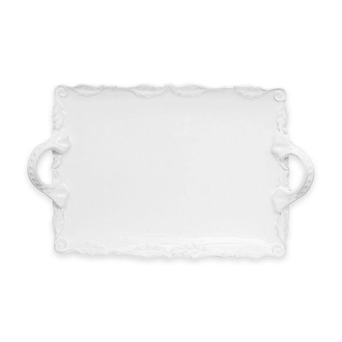Alternate image 1 for American Atelier Bianca Wave Rectangular Platter in White