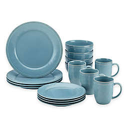 Rachael Ray™  Cucina Stoneware 16-Piece Dinnerware Set in Blue