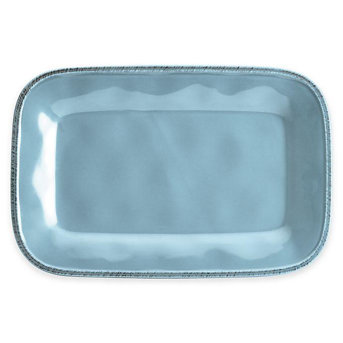Alternate image 1 for Rachael Ray™  Cucina Stoneware Rectangular Platter in Blue