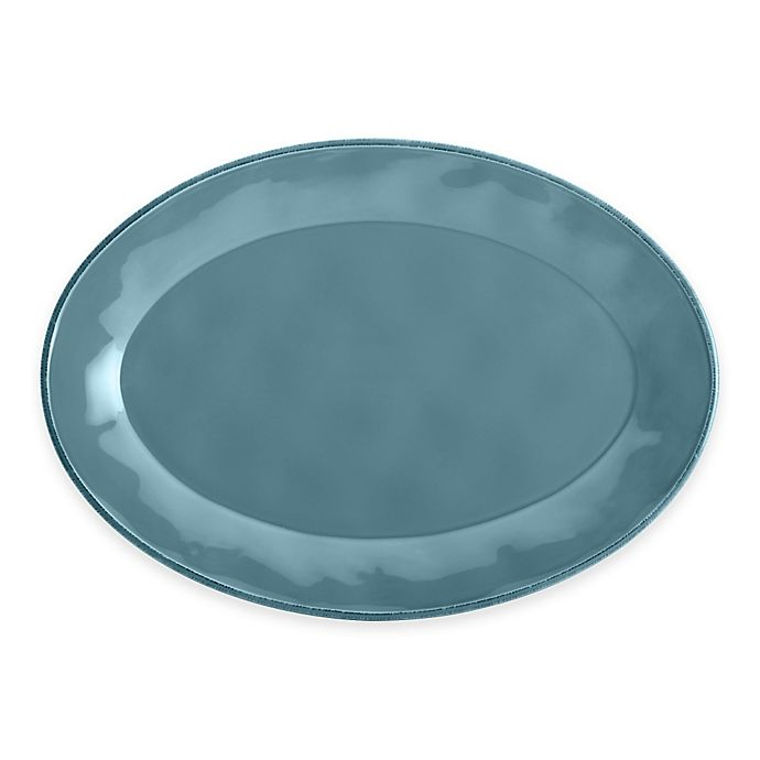 Alternate image 1 for Rachael Ray™ Cucina Stoneware Oval Platter in Blue
