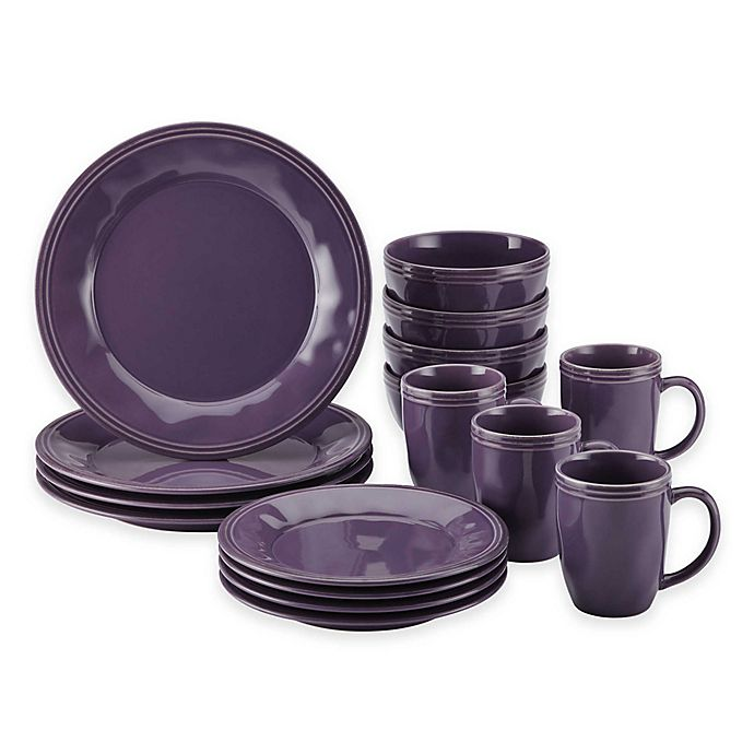 Alternate image 1 for Rachael Ray™ Cucina 16-Piece Dinnerware Set in Lavender