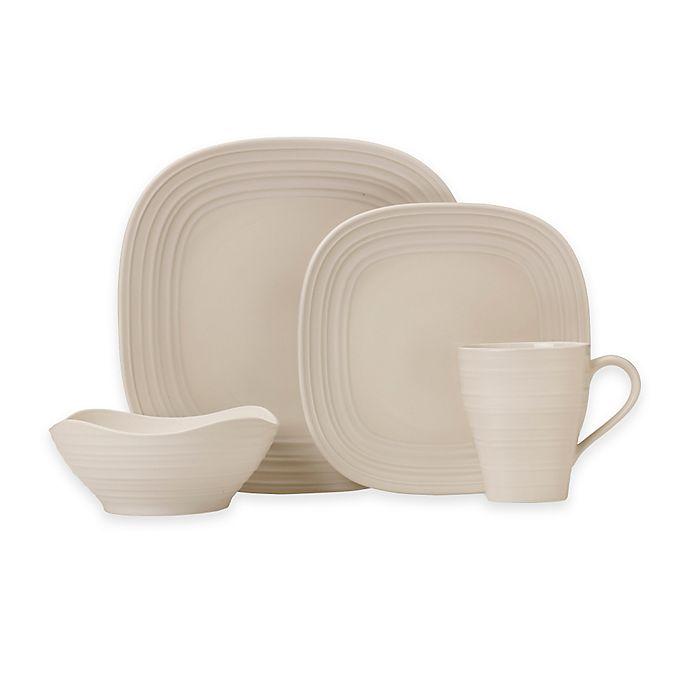 Alternate image 1 for Mikasa® Swirl Square Dinnerware Collection in Cream