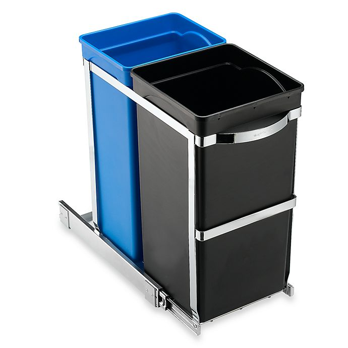 Alternate image 1 for simplehuman® 35-Liter Pull-Out Recycler