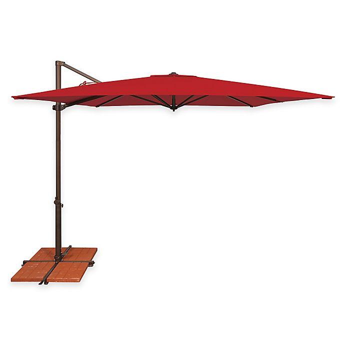 Alternate image 1 for SimplyShade Skye 8-Foot 7-Inch Square Cantilever Umbrella in Sunbrella® Red
