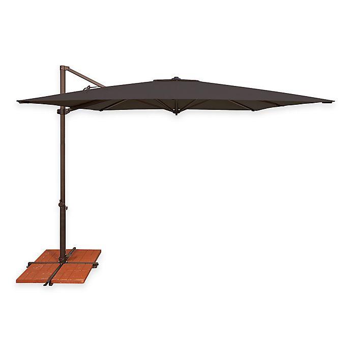 Alternate image 1 for SimplyShade Skye 8-Foot 7-Inch Square Cantilever Umbrella in Sunbrella® Black