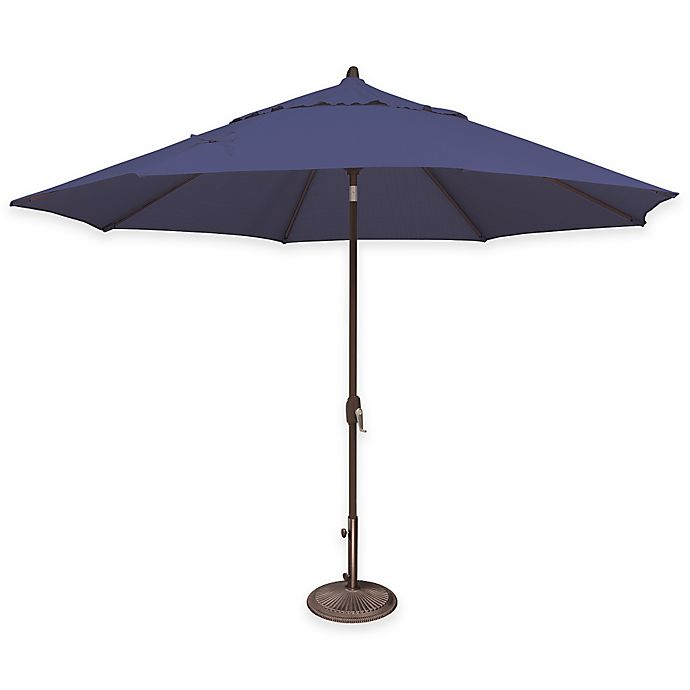 Alternate image 1 for SimplyShade® Lanai 11-Foot Octagon Aluminum Solefin Market Umbrella in Sky Blue