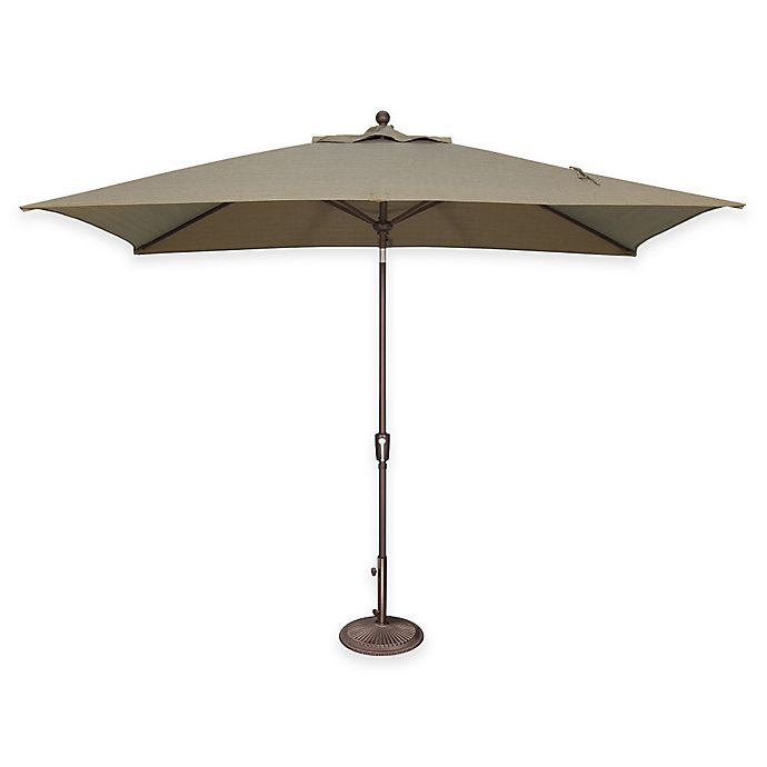 Alternate image 1 for SimplyShade Catalina 6.5-Foot x 10-Foot Tilt Rectangle Solefin® Umbrella