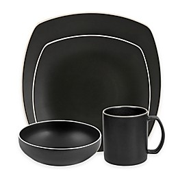 Artisanal Kitchen Supply® Edge Square Dinnerware Collection in Graphite