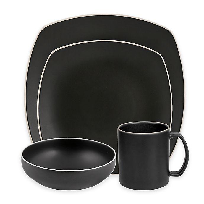 Alternate image 1 for Artisanal Kitchen Supply® Edge Square Dinnerware Collection in Graphite