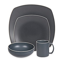Artisanal Kitchen Supply® Edge Square Dinnerware Collection in Slate Blue