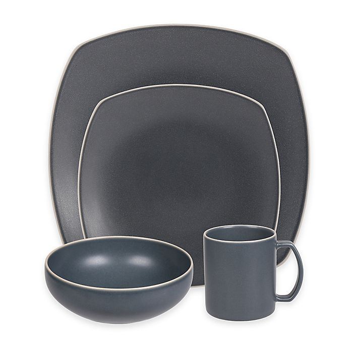 Alternate image 1 for Artisanal Kitchen Supply® Edge Square Dinnerware Collection in Slate Blue