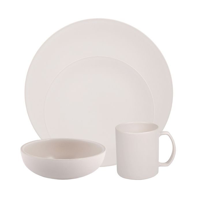Alternate image 1 for Artisanal Kitchen Supply® Edge Dinnerware Collection in Linen