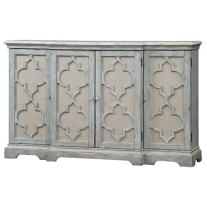 Alternate image 1 for Uttermost Sophie 4-Door Cabinet in Grey