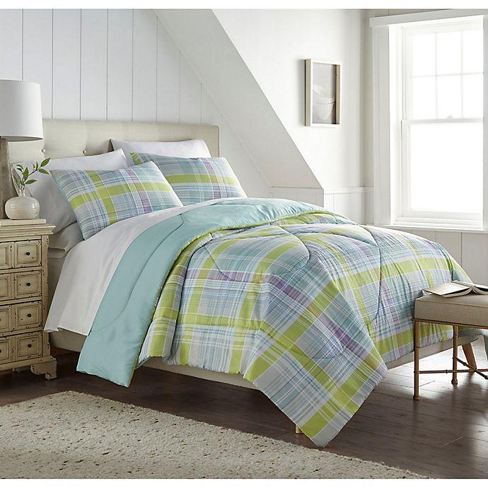 Alternate image 1 for Seersucker Plaid 3-Piece Comforter Set