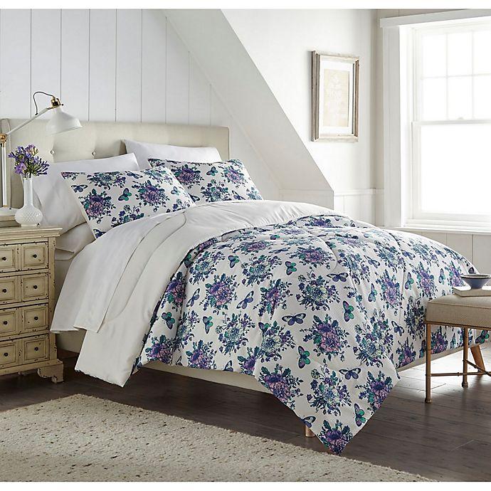 Alternate image 1 for English Garden Seersucker 3-Piece Comforter Set in White