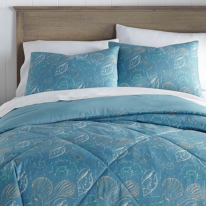 Alternate image 1 for Seashell Seersucker 3-Piece Comforter Set
