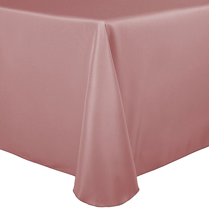 Alternate image 1 for Basic Polyester 60-Inch x 90-Inch Oblong Tablecloth in Dusty Rose