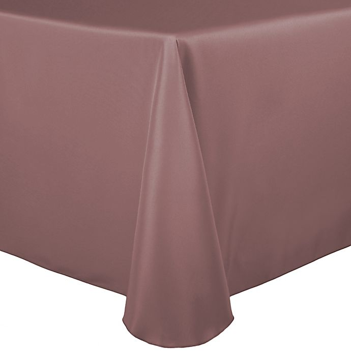 Alternate image 1 for Basic Polyester 60-Inch x 120-Inch Oblong Tablecloth in Mauve