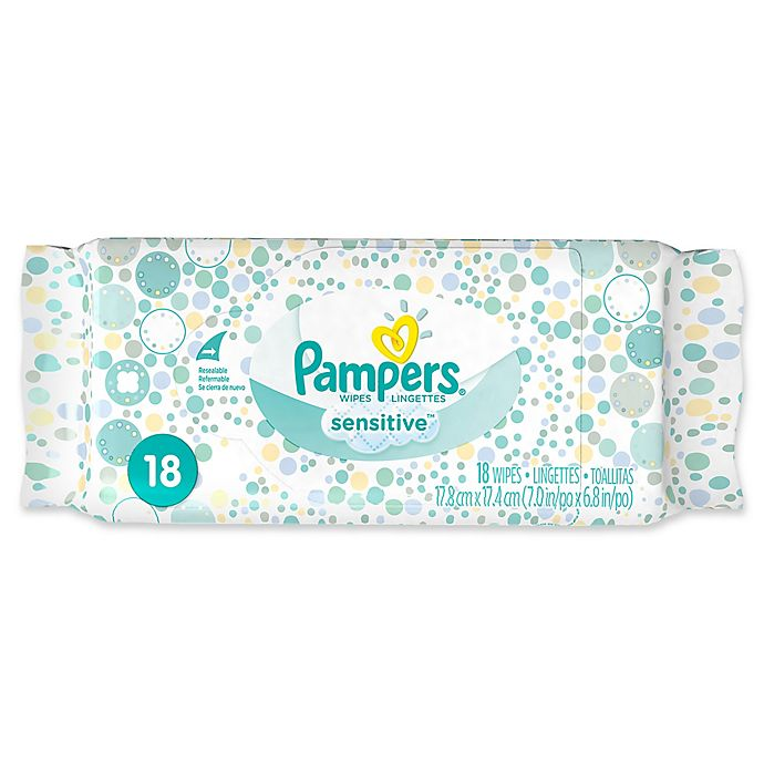 Alternate image 1 for Pampers® 18-Count Sensitive Wipes Convenience Pack