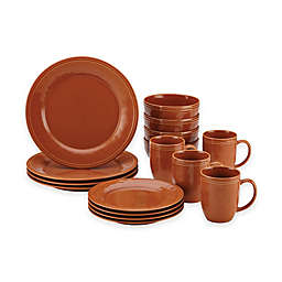 Rachael Ray™ Cucina Stoneware 16-Piece Dinnerware Set in Orange