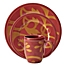 Part of the Rachael Ray™ Gold Scroll Dinnerware Collection in Cranberry