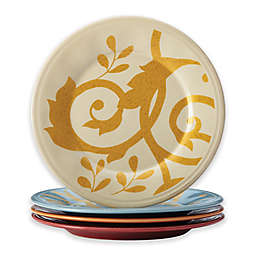 Rachael Ray™ Gold Scroll Round Appetizer Plates (Set of 4)