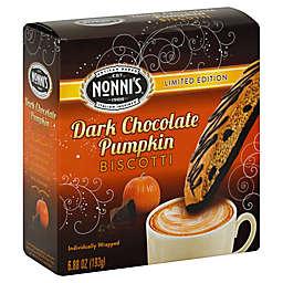 Nonni's® Limited Edition 6.88 oz. Individually Wrapped Dark Chocolate Pumpkin Biscotti