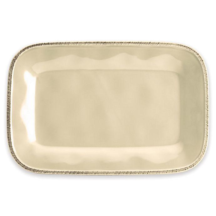 Alternate image 1 for Rachael Ray™  Cucina 12-Inch  Rectangular Platter in Cream