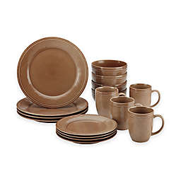 Rachael Ray™  Cucina 16-Piece Dinnerware Set in Brown