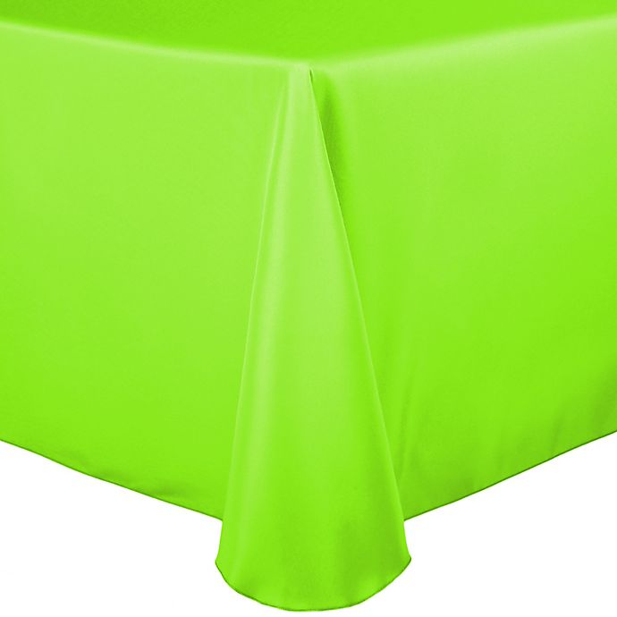 Alternate image 1 for Basic Polyester 60-Inch x 120-Inch Oblong Tablecloth in Neon Green