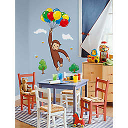 York Wallcoverings Curious George Peel and Stick Giant Wall Decal